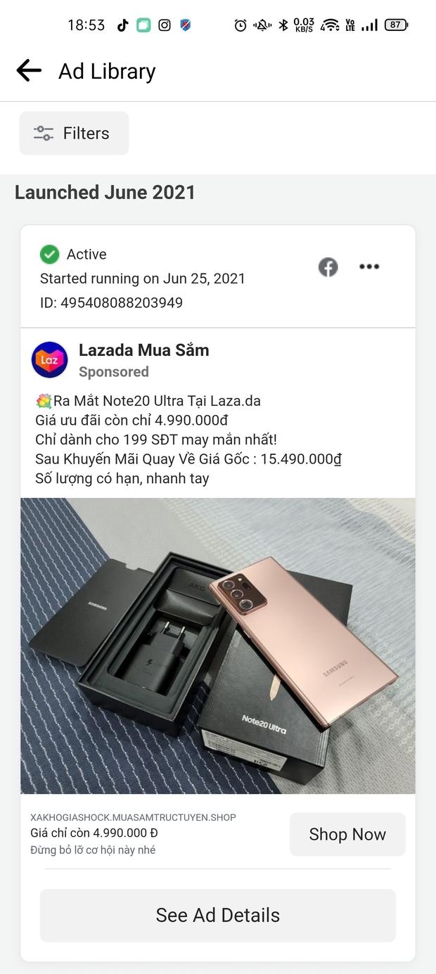 Xuất hiện nhiều trang Facebook lừa đảo giả mạo Lazada bán hàng giá rẻ, người dùng cần hết sức cảnh giác - Ảnh 3.