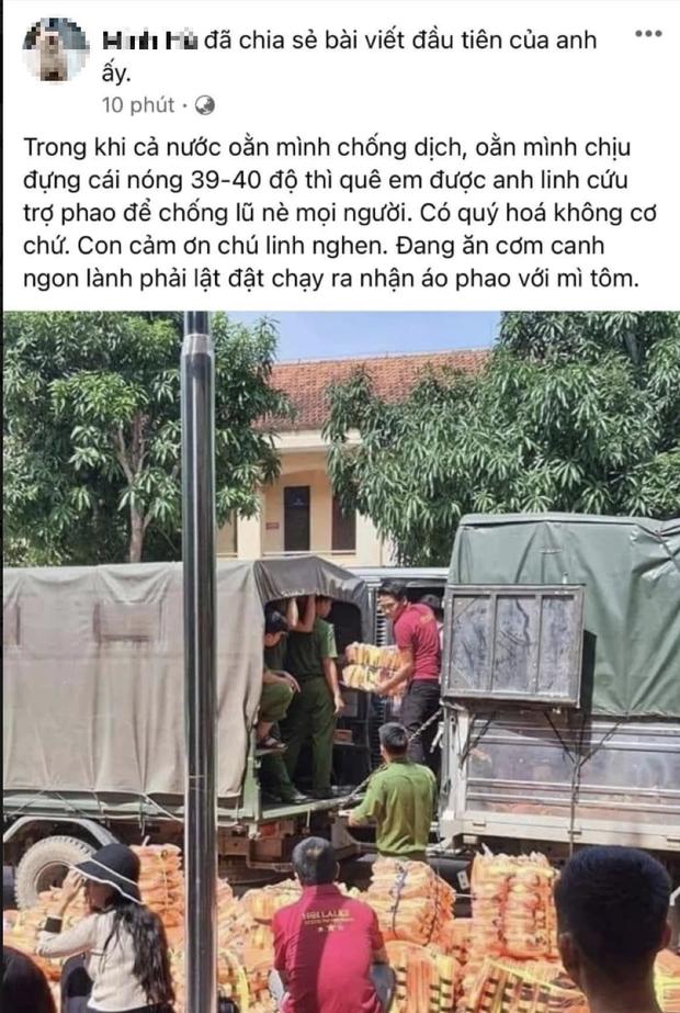 Rầm rộ ảnh đoàn NS Hoài Linh cứu trợ áo phao và mì tôm khi người dân đang chống Covid-19 giữa hè, thực hư ra sao? - Ảnh 2.