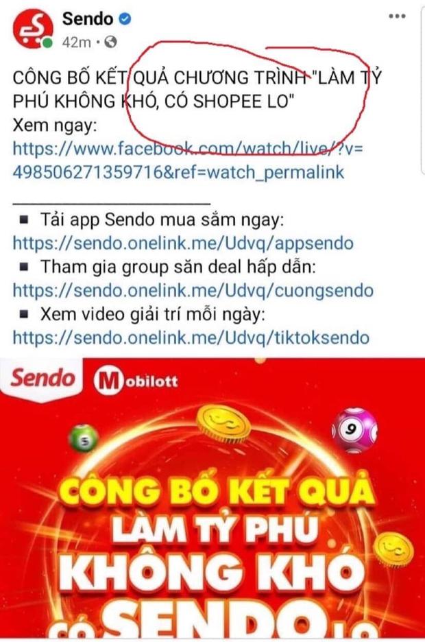 Fanpage Sendo đăng quảng cáo Shopee, cộng đồng được phen cười xỉu, là thuyết âm mưu hay bị lag cực mạnh? - Ảnh 1.