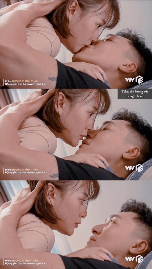 Lộ màn hôn hít chưa lên sóng của Phương Oanh và Mạnh Trường: Nàng ngại ngùng, chàng tình tứ thế này bảo sao dân tình cứ xỉu mãi - Ảnh 3.