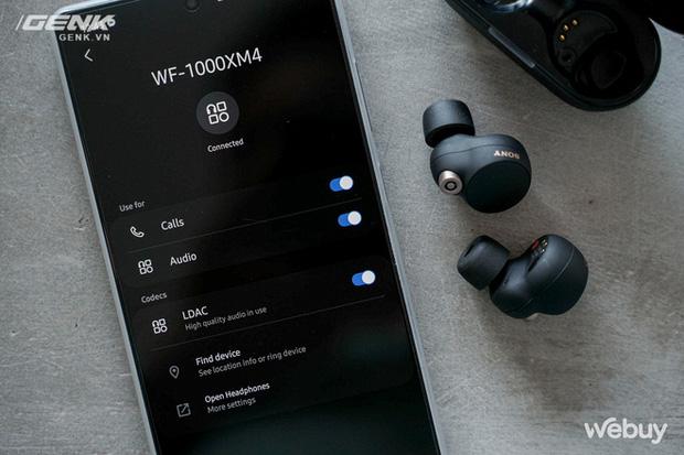 Trên tay Sony WF-1000XM4: Nhỏ gọn, pin trâu, chống ồn đỉnh chóp, giá 6,49 triệu - Ảnh 12.