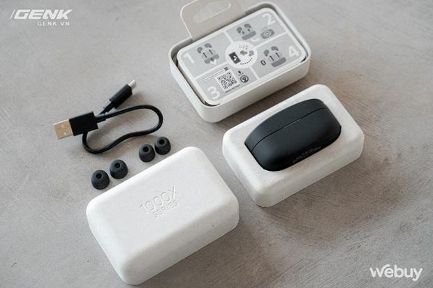 Trên tay Sony WF-1000XM4: Nhỏ gọn, pin trâu, chống ồn đỉnh chóp, giá 6,49 triệu - Ảnh 8.