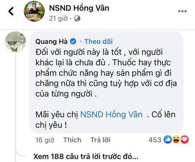 Bênh vực NS Hồng Vân trong lùm xùm quảng cáo, ca sĩ Quang Hà bị nhận gạch đá tơi bời từ công chúng - Ảnh 3.