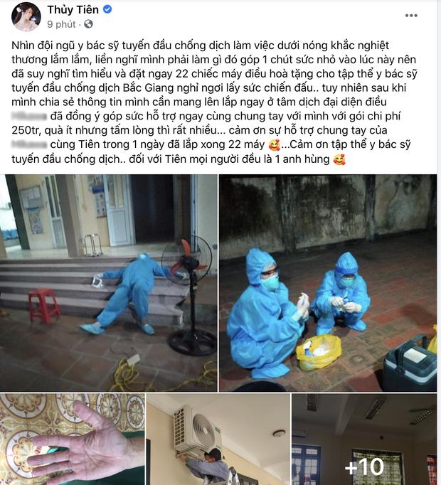 Giữa ồn ào từ thiện, Thuỷ Tiên ghi điểm khi làm điều này cho tập thể y bác sĩ Bắc Giang đang chống dịch Covid-19? - Ảnh 2.