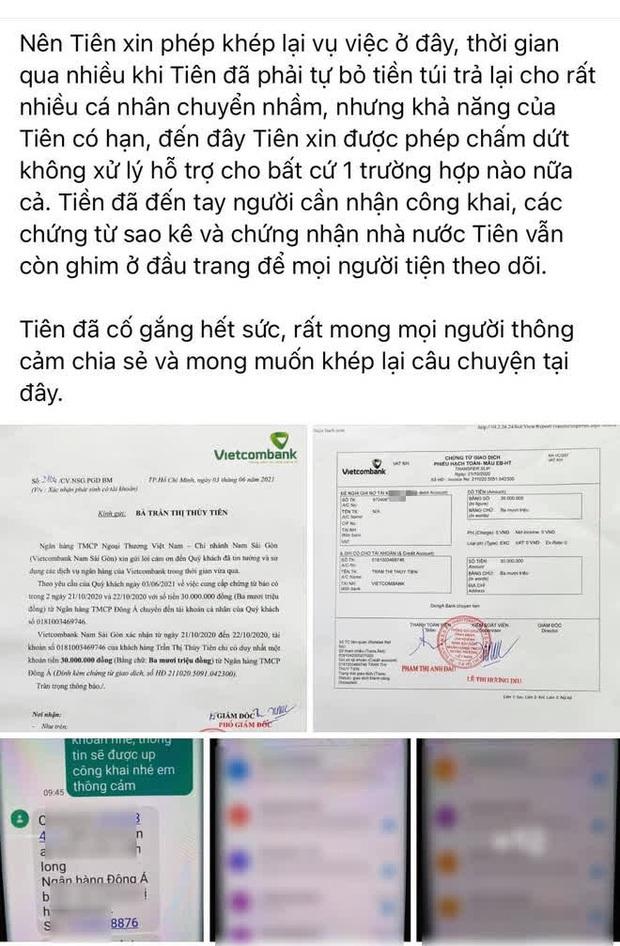 Bị phát hiện điểm sai sót lớn trong vụ lùm xùm chuyển nhầm 30 triệu, Thuỷ Tiên đã xoá bài đăng khỏi Fanpage - Ảnh 6.