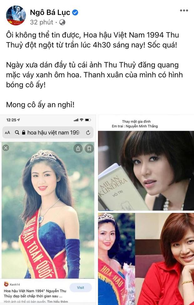 Lệ Quyên, Thúy Hạnh và dàn sao Việt bàng hoàng xót xa khi nghe tin Hoa hậu Thu Thuỷ đột ngột qua đời - Ảnh 10.