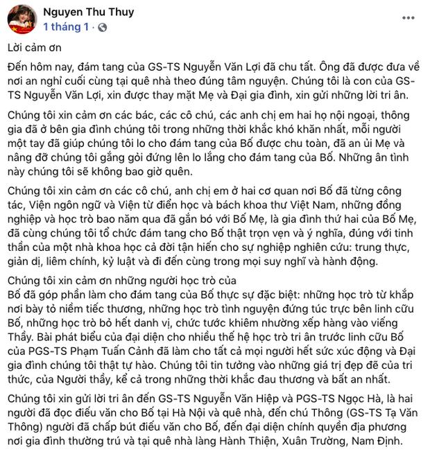Xót xa tình cảnh Hoa hậu Nguyễn Thu Thuỷ vừa làm đám tang tiễn đưa bố hồi đầu năm 2021, 5 tháng sau cô đột ngột qua đời - Ảnh 2.