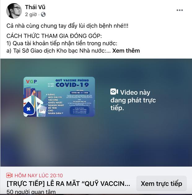 Cả showbiz và dàn KOLs Việt hướng về buổi ra mắt Quỹ vaccine phòng Covid-19, chuyển khoản nóng đóng góp hàng trăm triệu đồng - Ảnh 20.