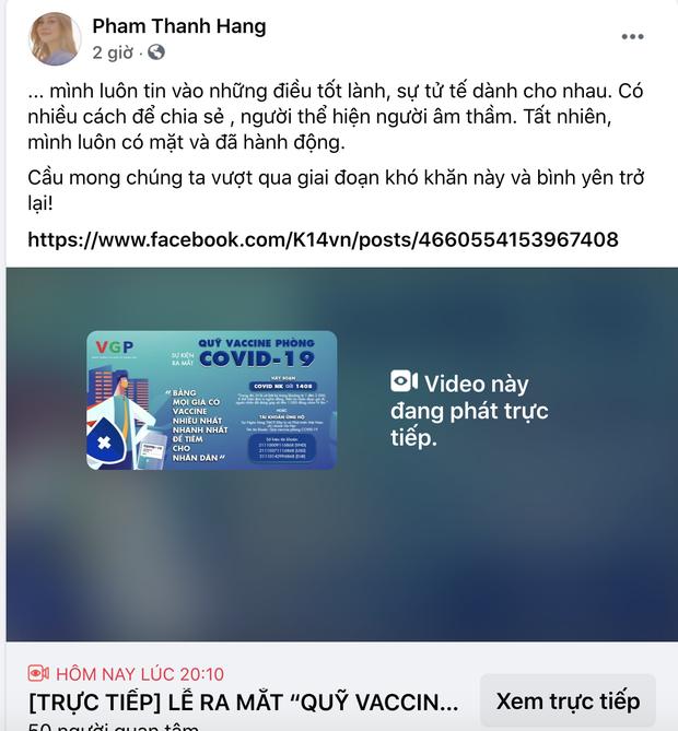 Cả showbiz và dàn KOLs Việt hướng về buổi ra mắt Quỹ vaccine phòng Covid-19, chuyển khoản nóng đóng góp hàng trăm triệu đồng - Ảnh 25.
