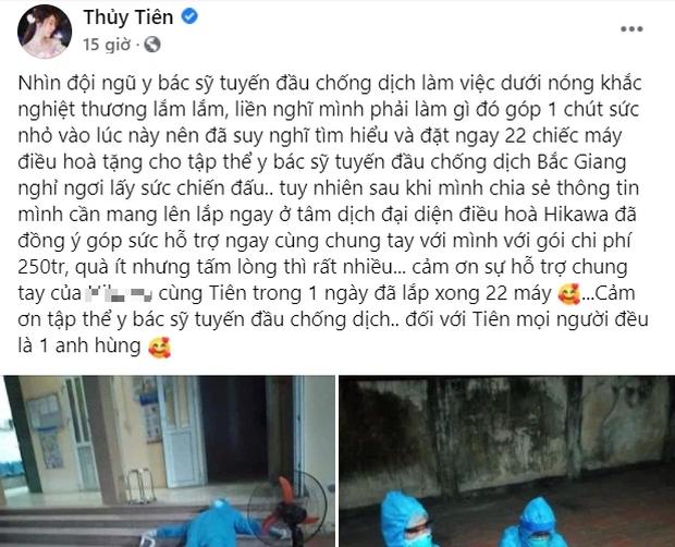 Bị tố nhận vơ 22 máy điều hoà hỗ trợ y bác sĩ ở Bắc Giang, Thuỷ Tiên phản pháo ngay gì mà được dân tình ủng hộ  - Ảnh 2.