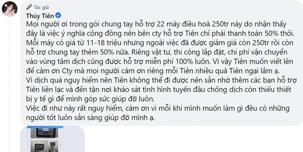 Bị tố nhận vơ 22 máy điều hoà hỗ trợ y bác sĩ ở Bắc Giang, Thuỷ Tiên phản pháo ngay gì mà được dân tình ủng hộ  - Ảnh 5.