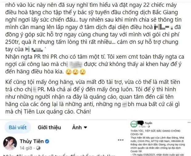 Bị tố nhận vơ 22 máy điều hoà hỗ trợ y bác sĩ ở Bắc Giang, Thuỷ Tiên phản pháo ngay gì mà được dân tình ủng hộ  - Ảnh 4.