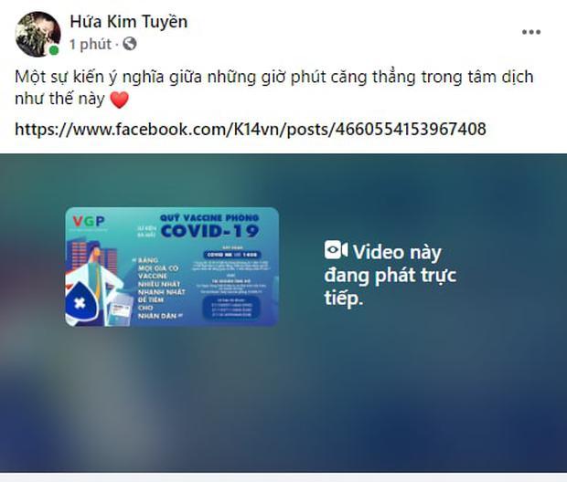 Cả showbiz và dàn KOLs Việt hướng về buổi ra mắt Quỹ vaccine phòng Covid-19, chuyển khoản nóng đóng góp hàng trăm triệu đồng - Ảnh 14.
