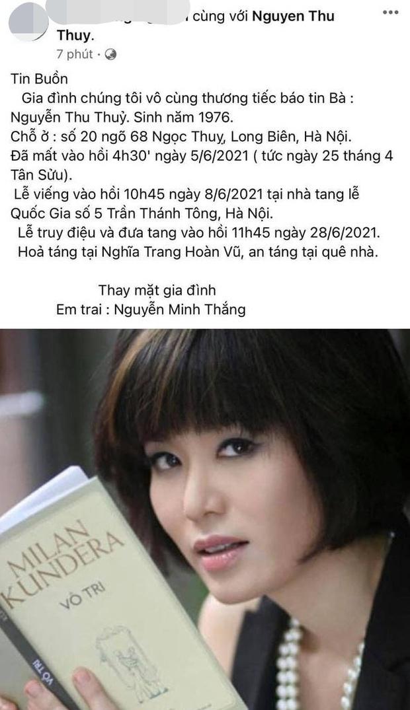 Thông tin lễ tang của Hoa hậu Việt Nam 1994 Thu Thuỷ vừa qua đời vì đột quỵ - Ảnh 2.