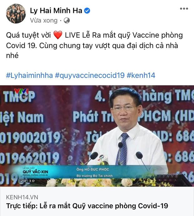 Cả showbiz và dàn KOLs Việt hướng về buổi ra mắt Quỹ vaccine phòng Covid-19, chuyển khoản nóng đóng góp hàng trăm triệu đồng - Ảnh 15.
