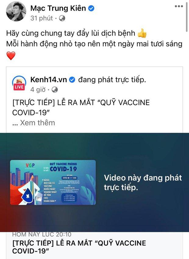 Cả showbiz và dàn KOLs Việt hướng về buổi ra mắt Quỹ vaccine phòng Covid-19, chuyển khoản nóng đóng góp hàng trăm triệu đồng - Ảnh 26.