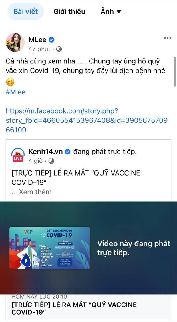 Cả showbiz và dàn KOLs Việt hướng về buổi ra mắt Quỹ vaccine phòng Covid-19, chuyển khoản nóng đóng góp hàng trăm triệu đồng - Ảnh 16.