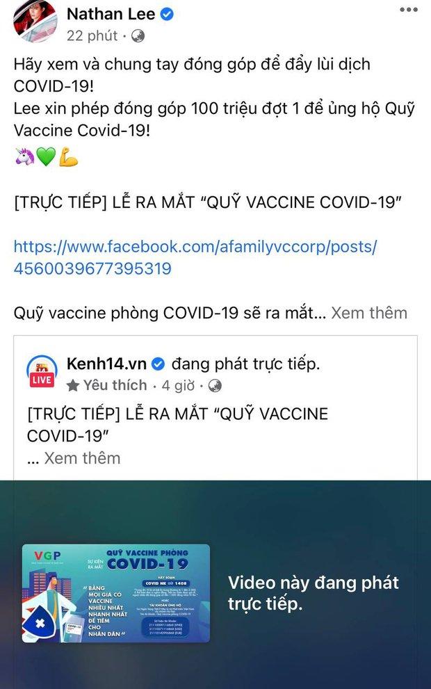Cả showbiz và dàn KOLs Việt hướng về buổi ra mắt Quỹ vaccine phòng Covid-19, chuyển khoản nóng đóng góp hàng trăm triệu đồng - Ảnh 5.