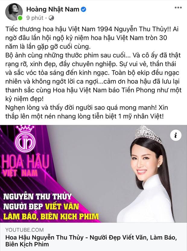Lệ Quyên, Thúy Hạnh và dàn sao Việt bàng hoàng xót xa khi nghe tin Hoa hậu Thu Thuỷ đột ngột qua đời - Ảnh 6.