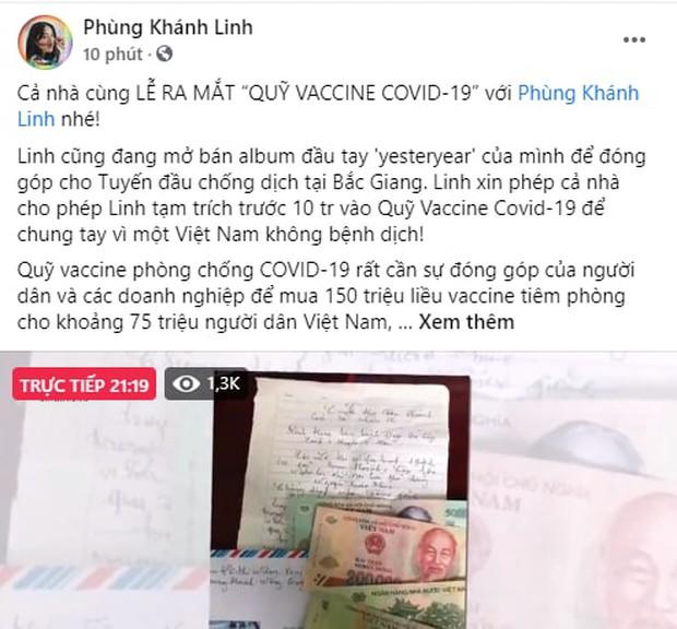 Cả showbiz và dàn KOLs Việt hướng về buổi ra mắt Quỹ vaccine phòng Covid-19, chuyển khoản nóng đóng góp hàng trăm triệu đồng - Ảnh 7.