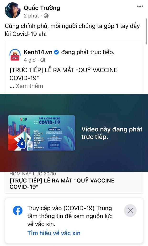 Cả showbiz và dàn KOLs Việt hướng về buổi ra mắt Quỹ vaccine phòng Covid-19, chuyển khoản nóng đóng góp hàng trăm triệu đồng - Ảnh 22.