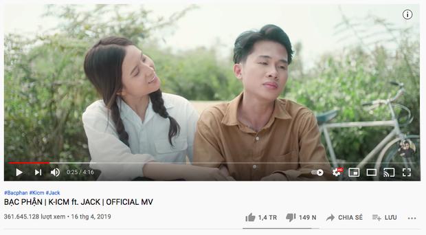 Loạt MV nhạc Việt cập kê nửa tỷ view sau Bống Bống Bang Bang: Jack - K-ICM có tới 3 ngựa chiến, Sơn Tùng thua xa - Ảnh 4.
