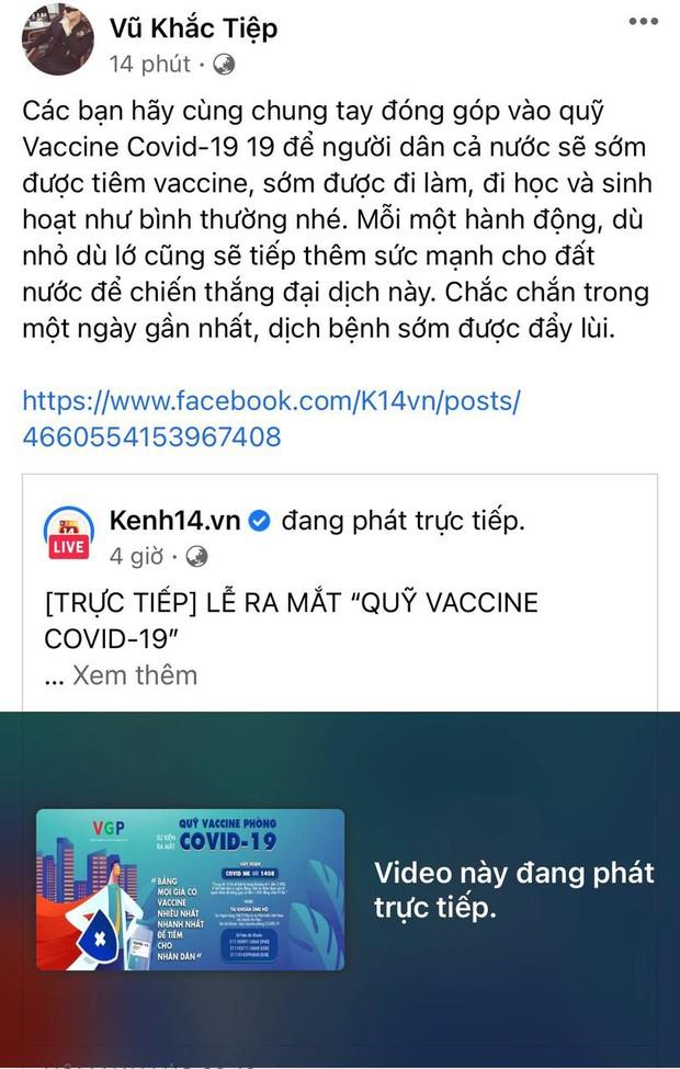 Cả showbiz và dàn KOLs Việt hướng về buổi ra mắt Quỹ vaccine phòng Covid-19, chuyển khoản nóng đóng góp hàng trăm triệu đồng - Ảnh 18.