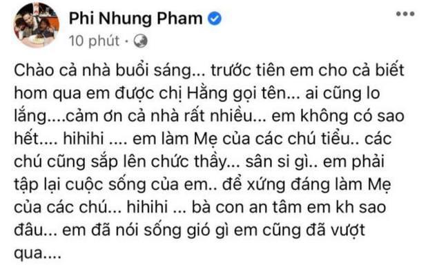 Phi Nhung lên tiếng khi bị bà Phương Hằng gọi tên: Làm rõ 3 tin đồn đang gây xôn xao, nói rõ quan hệ với Hoài Linh - Ảnh 2.