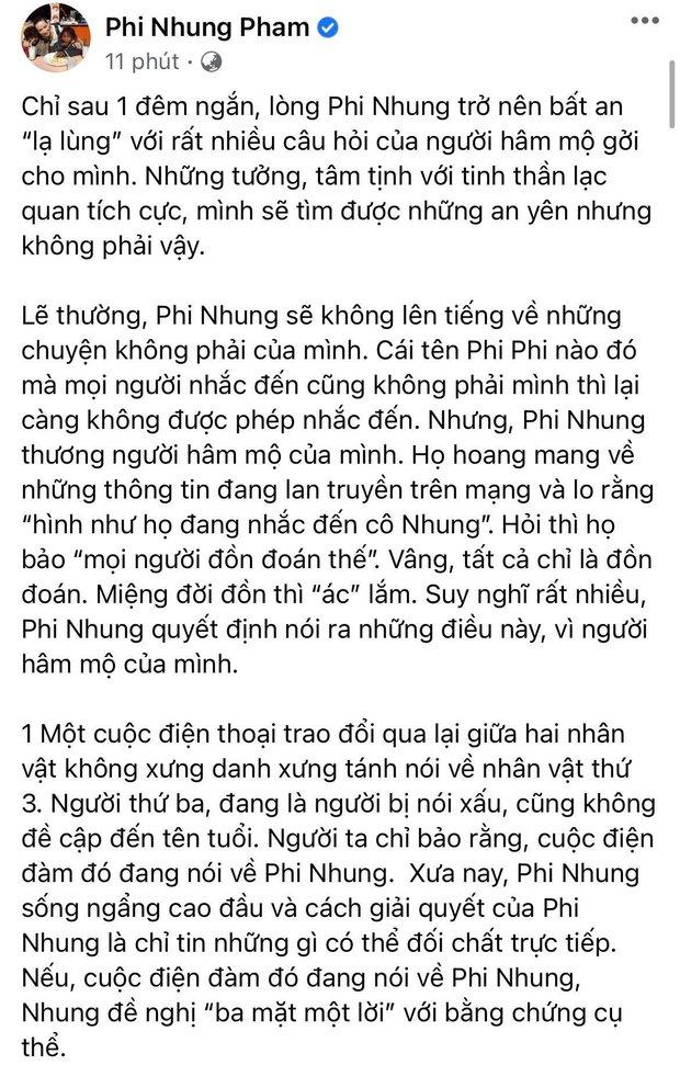 Phi Nhung lên tiếng khi bị bà Phương Hằng gọi tên: Làm rõ 3 tin đồn đang gây xôn xao, nói rõ quan hệ với Hoài Linh - Ảnh 3.