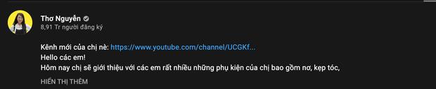 Thơ Nguyễn lập thêm kênh mới, lấy nghệ danh mới sau tuyên bố không làm YouTuber nữa! - Ảnh 3.