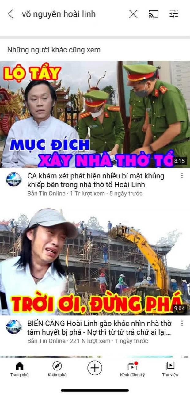 Hàng loạt kênh YouTube đưa thông tin thất thiệt về Hoài Linh, hút về cả triệu lượt xem - Ảnh 2.