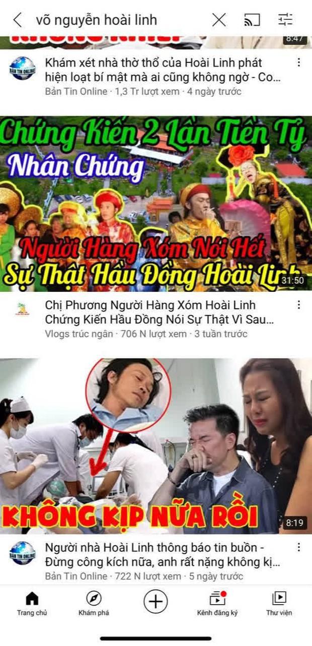 Hàng loạt kênh YouTube đưa thông tin thất thiệt về Hoài Linh, hút về cả triệu lượt xem - Ảnh 3.