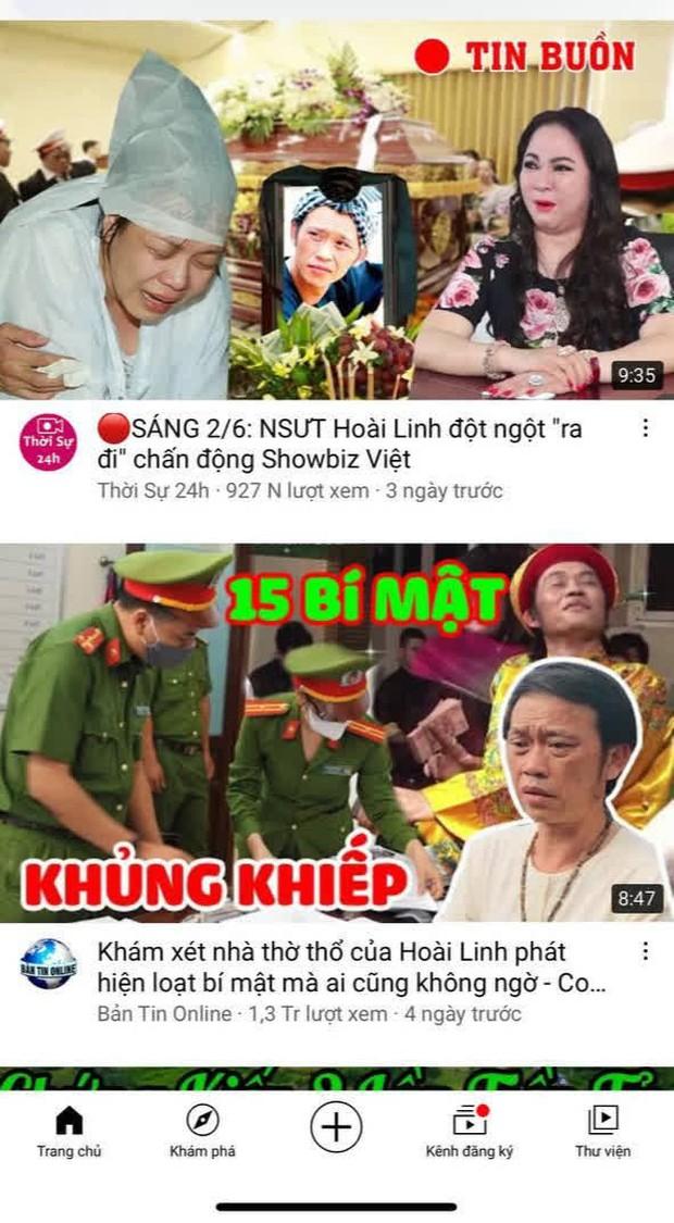 Hàng loạt kênh YouTube đưa thông tin thất thiệt về Hoài Linh, hút về cả triệu lượt xem - Ảnh 4.