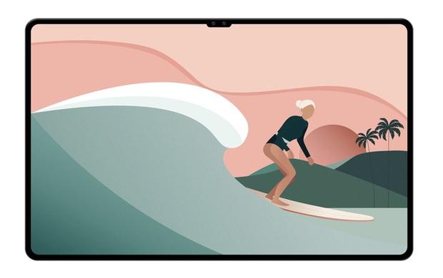 Cái nhìn đầu tiên về Galaxy Tab S8 Ultra: Viền màn hình mỏng và có tai thỏ như iPhone? - Ảnh 2.