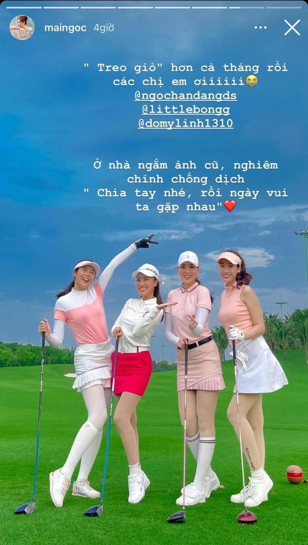 """Mai Ngọc than thở hội chơi golf phải """"treo giò"""" cả tháng, netizen chỉ chú ý cả dàn nhan sắc sao đều quá trời - Ảnh 2."""