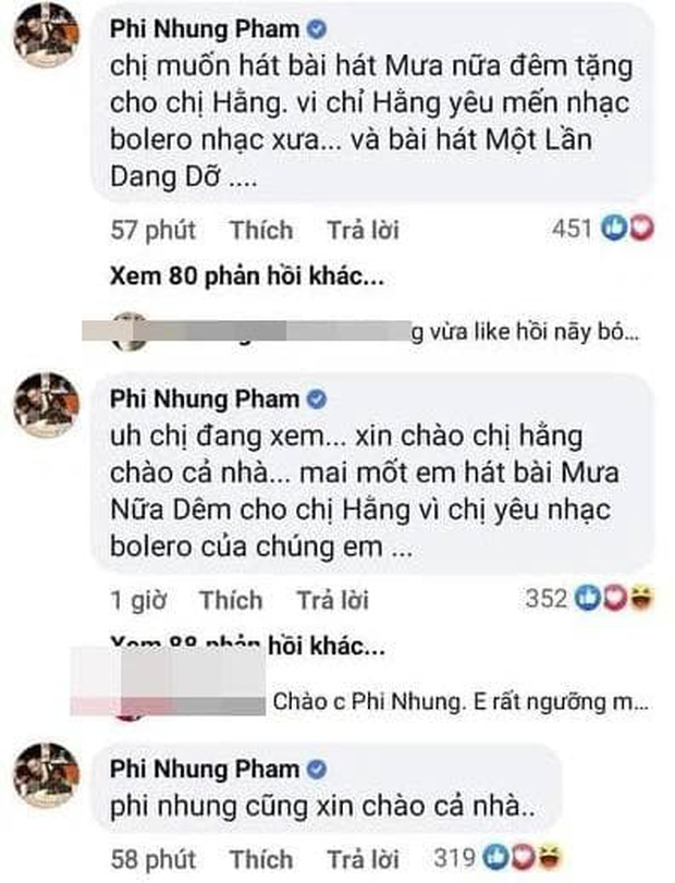 Hậu bị hacker doạ bóc phốt quá khứ, Phi Nhung bất ngờ bình luận đòi hát cho bà Phương Hằng? - Ảnh 3.