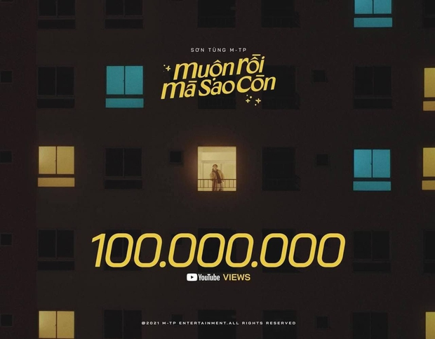 Muộn Rồi Mà Sao Còn của Sơn Tùng cán mốc 100 triệu view sau 37 ngày, nhanh đấy nhưng vẫn kém 2 MV của Jack và K-ICM! - Ảnh 2.