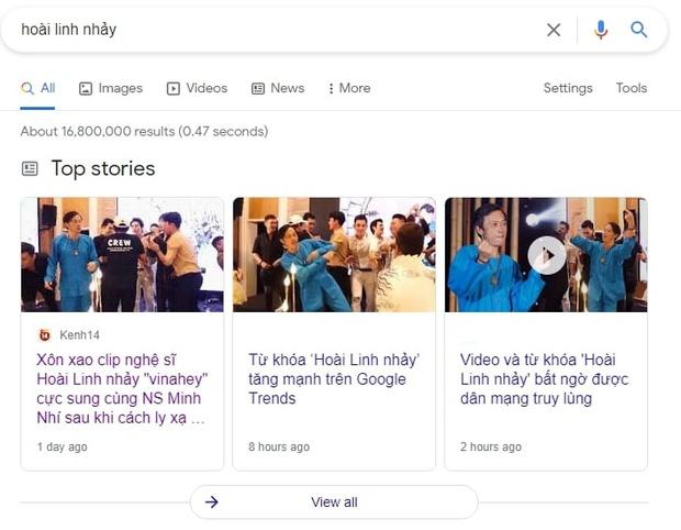 Từ khóa Hoài Linh nhảy lọt top tìm kiếm nhiều nhất 24 giờ qua, cho ra 16,8 triệu kết quả chỉ trong 0,47 giây sau clip quẩy vinahey - Ảnh 6.
