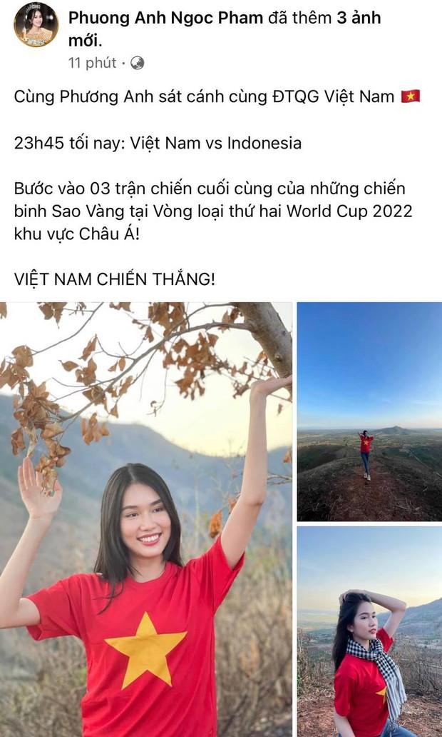 Sao Việt nhuộm đỏ Facebook trước giờ G đội tuyển Việt Nam gặp Indonesia: Jack và dàn mỹ nhân cực cuồng nhiệt, BB Trần hứa làm 1 việc lầy lội - Ảnh 3.