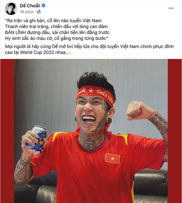 Sao Việt nhuộm đỏ Facebook trước giờ G đội tuyển Việt Nam gặp Indonesia: Jack và dàn mỹ nhân cực cuồng nhiệt, BB Trần hứa làm 1 việc lầy lội - Ảnh 8.
