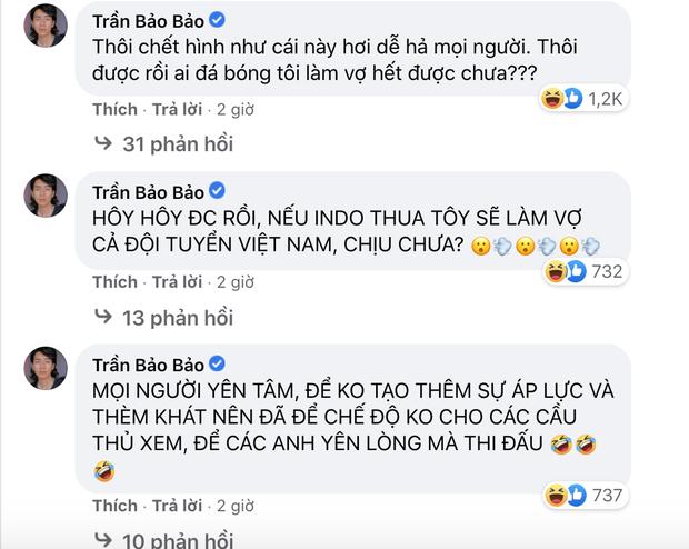 Sao Việt nhuộm đỏ Facebook trước giờ G đội tuyển Việt Nam gặp Indonesia: Jack và dàn mỹ nhân cực cuồng nhiệt, BB Trần hứa làm 1 việc lầy lội - Ảnh 12.