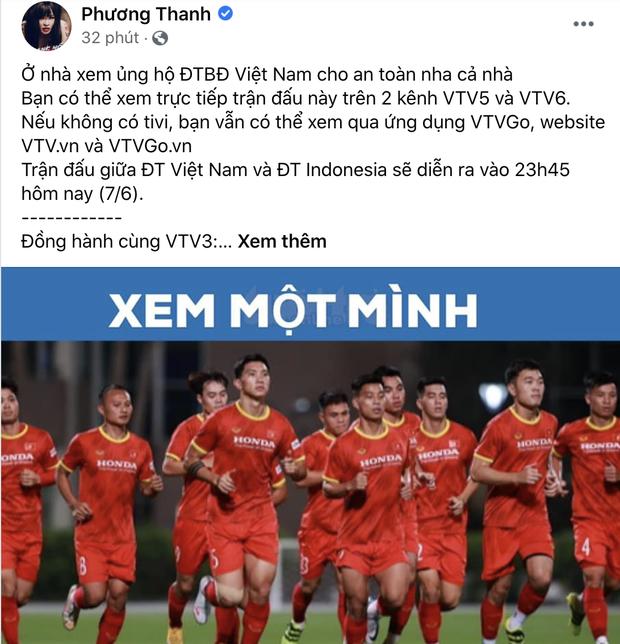 Sao Việt nhuộm đỏ Facebook trước giờ G đội tuyển Việt Nam gặp Indonesia: Jack và dàn mỹ nhân cực cuồng nhiệt, BB Trần hứa làm 1 việc lầy lội - Ảnh 7.