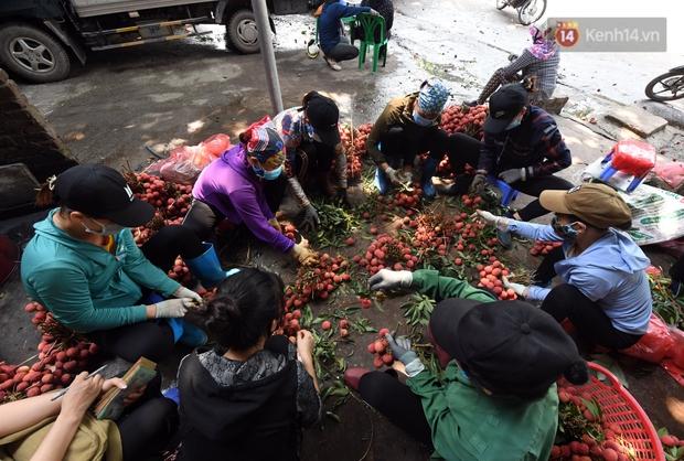 Vải thiều Lục Ngạn, Bắc Giang nhộn nhịp thu hoạch và tiêu thụ ngay từ đầu vụ - Ảnh 9.