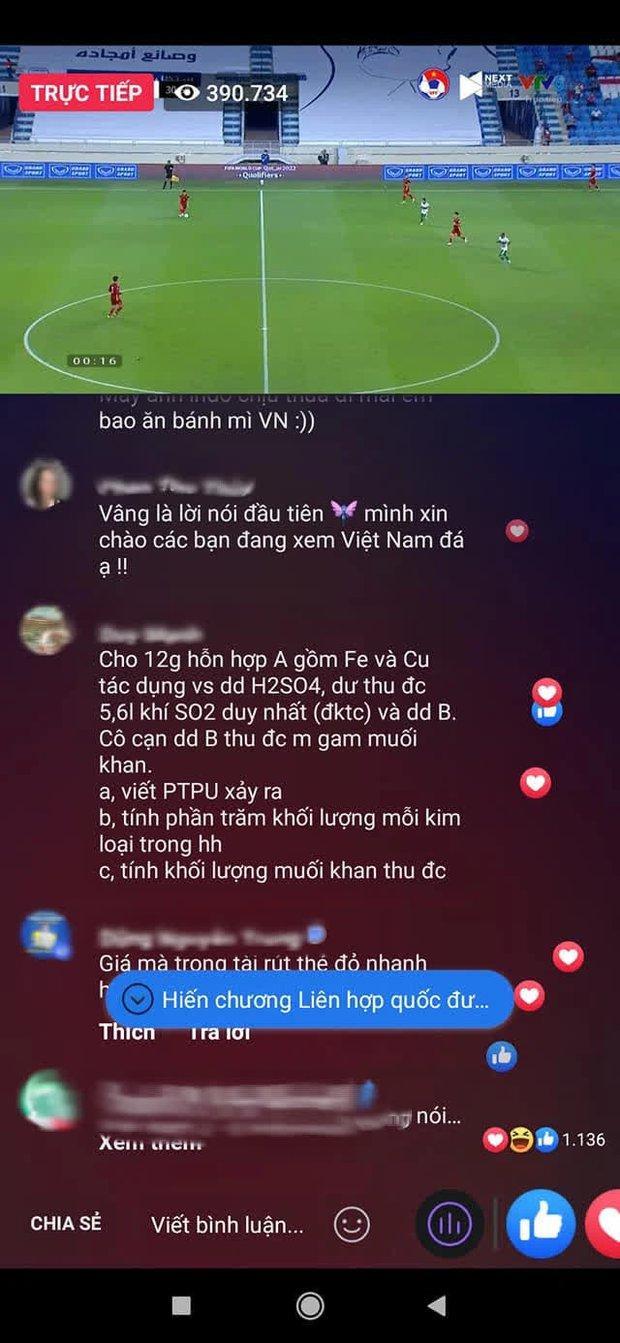 Hàng trăm comment lạ dưới livestream trận bóng Việt Nam và Indonesia, đọc vừa tức vừa hài - Ảnh 1.