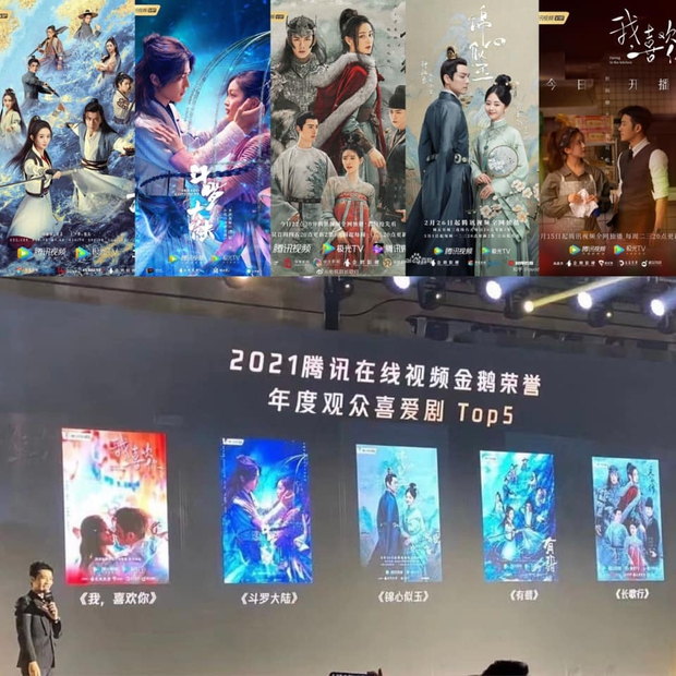 Tencent công bố 5 phim Trung được yêu thích nhất 2021: Triệu Lộ Tư ẵm 2 bộ, fan khen ngợi mãi một siêu phẩm - Ảnh 1.