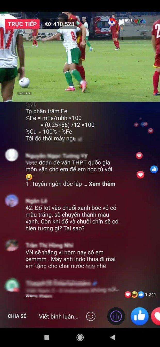 Hàng trăm comment lạ dưới livestream trận bóng Việt Nam và Indonesia, đọc vừa tức vừa hài - Ảnh 2.