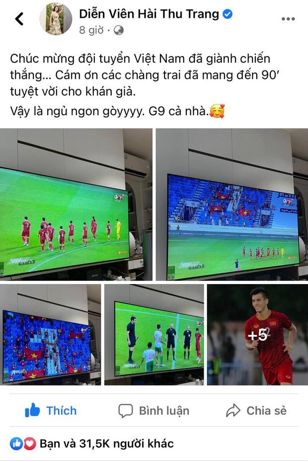 Ăn mừng Việt Nam thắng 4-0 kiểu bố bỉm Ông Cao Thắng: Không có cờ, nhanh tay bế ái nữ lên hô to, nhìn mặt Winnie hớn quá! - Ảnh 8.