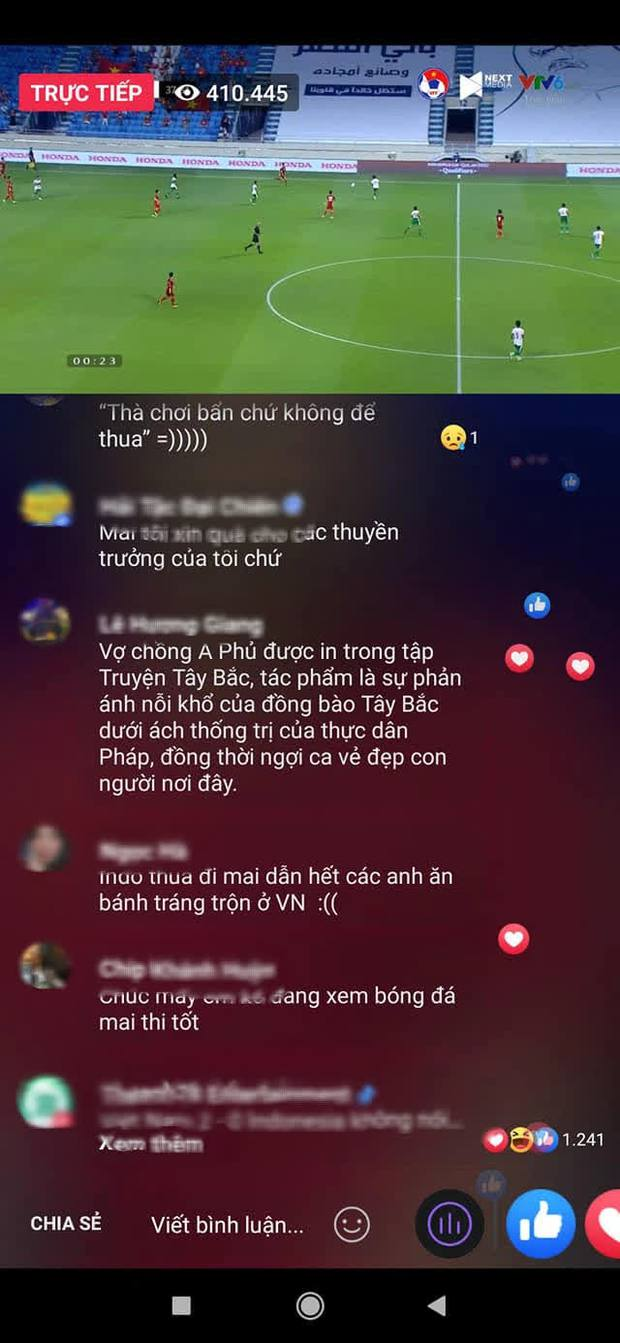 Hàng trăm comment lạ dưới livestream trận bóng Việt Nam và Indonesia, đọc vừa tức vừa hài - Ảnh 3.