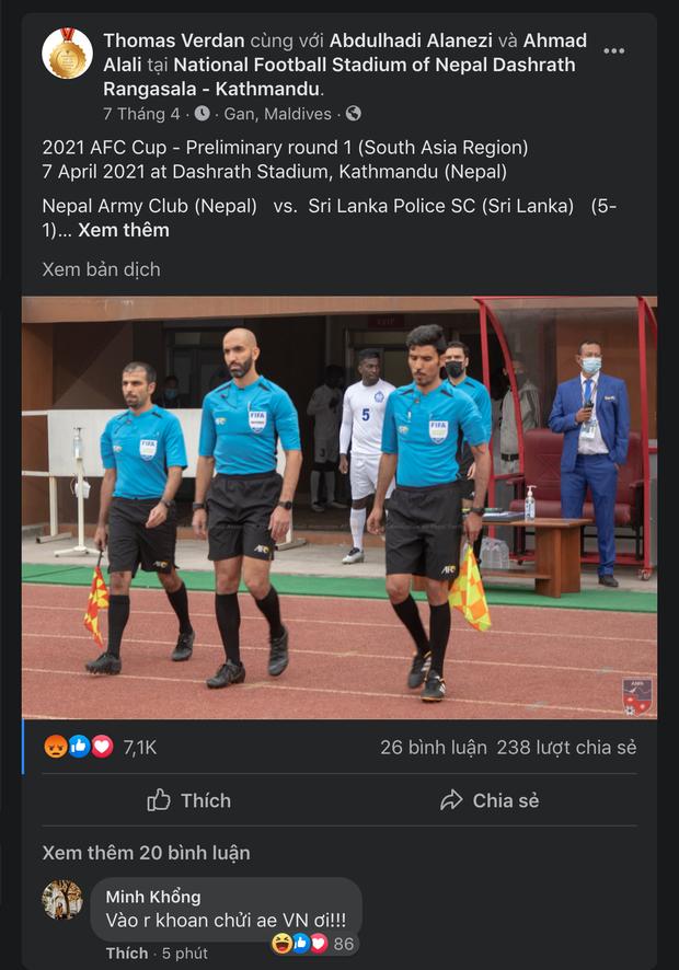 Facebook trọng tài cầm trịch trận đấu Việt Nam - Indonesia tăng tương tác cực khủng, nhưng đó là điều đáng buồn! - Ảnh 3.