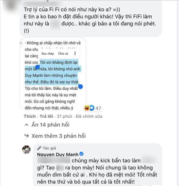 Duy Mạnh tuyên bố ngừng chiến vụ bị xúi chửi bà Phương Hằng, tất cả nhờ 1 cuộc điện thoại từ phía Phi Nhung? - Ảnh 3.